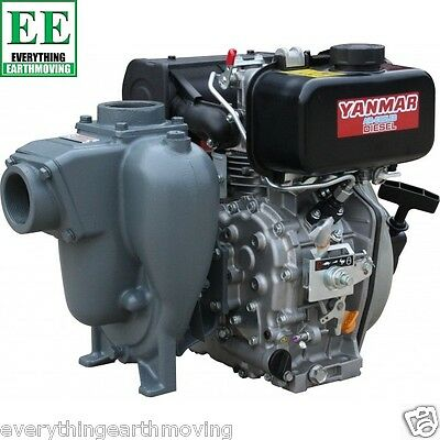 50mm Pump Powered By 4.8HP Yanmar Diesel Engine. Pull Start
