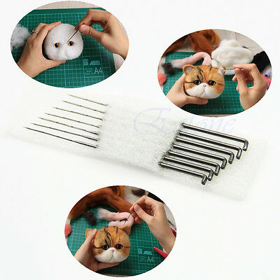 DIY 7X Wool Grip Holder Felting Needles Tool Craft Mat Applique Puncher DIY Kit
