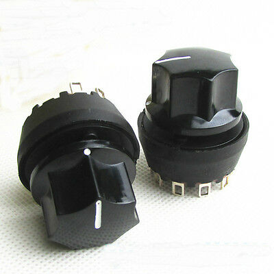 1 Pole 6 Way Rotary Switch 8A 125/250VAC SP6T Switch and knob
