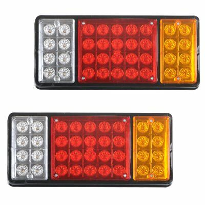 2x LORRY TRUCK TRAILER 36 LED STOP REAR TAIL BACK REVERSE LIGHT INDICATOR LAMP