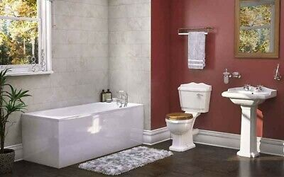 Traditional Vintage Victorian 3 Piece Full Bathroom Suite, Bath, Taps, Toilet, B
