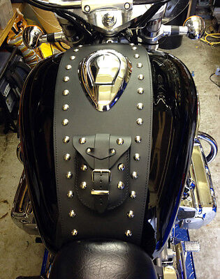 Honda Valkyrie Fc6 / Gl1500C Tank Chap / Panel / Bra / Pad With Pouch - Studded