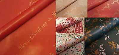 Kraft Patterned Paper Christmas Reindeer Nordic Holly Wrapping Floristry Gift