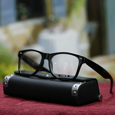 Men Mens Clear Lens Glasses Stylish Geek Nerd Eyewear Black Eyeglasses