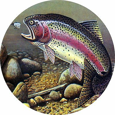 Trout fishing Spare Tire Cover Jeep RV Camper VW Trailer etc(all sizes avail)