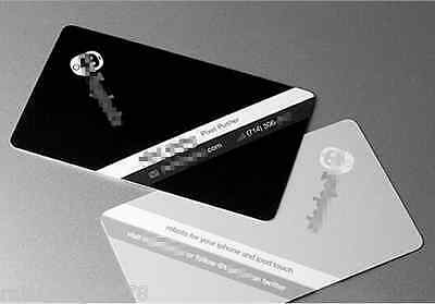 500 Custom Plastic Business Cards Printing - Matte finish- Free Express shipping
