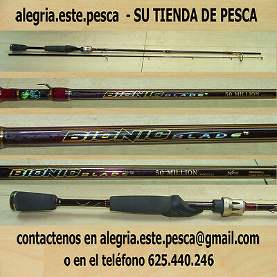 PESCA - CAÑA DE SPINNING BASS PRO SHOPS BIONIC BLADE 50 MILLION MODULUS - 1.82mt