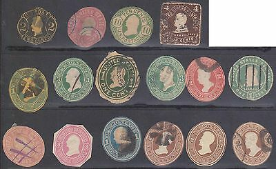 (ZB-1) 1865-1903 USA collection of 16 cut outs 1c to 6c