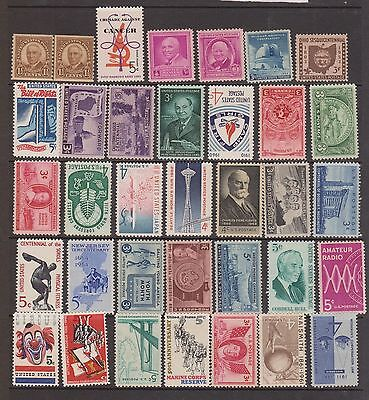 (ZB-74) 1930-66 USA mix of 35 stamps mostly MUH