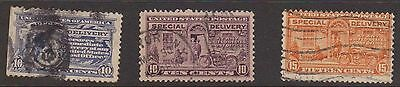 (ZB-216) 1971-22 USA 3stamps special delivery (A)