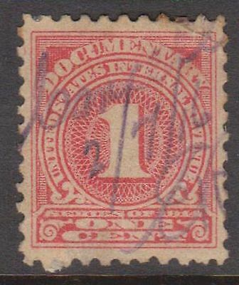 (ZB-8) 1879 USA 1c red documentary Stamps (C)