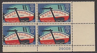 (ZB-131) 1967 USA 5c EIRE Canal 4block mint (C)
