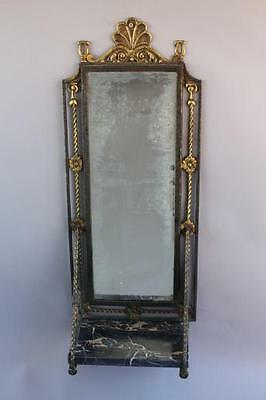 1920s Small Wall Mirror w Shelf Fits Spanish Revival Mediterranean Tuscan (6567)