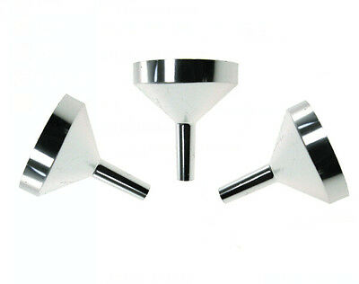 6pcs Small Metal Funnels for Filling Small Mini Bottles or Containers Aluminum