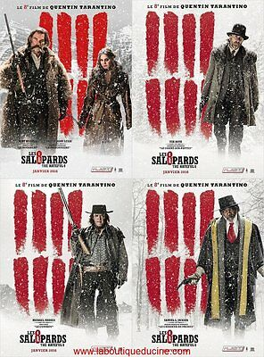LES 8 SALOPARDS LOT 4 Affiches Cinéma / Movie Poster 53x40 TARANTINO Hateful 8