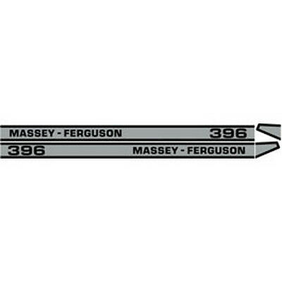 New 396 Massey Ferguson Tractor Hood Decal Kit Mf 396 High Quality Vinyl Decals