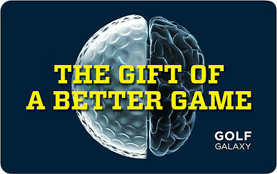 $50 Golf Galaxy Physical Gift Card - Standard 1st Class Mail Delivery