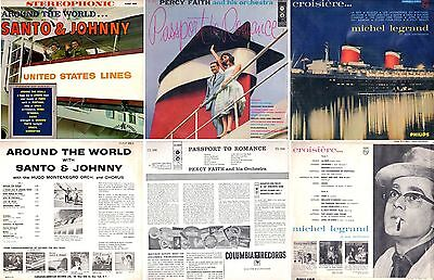 3 LP Records Photographed on S.S. UNITED STATES 1950s- NAUTIQUES sHiPs WORLDWIDE