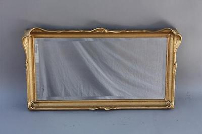 Early 1900s Antique Wing Bat Mirror Beautiful Original Frame New Glass (6889)