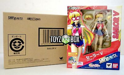 """In STOCK S.H. Figuarts """"Sailor V"""" (Moon) 20th Anniversary Bandai Action Figure"""