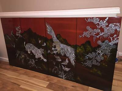 Hand Crafted Lacquer Art Mother Of Pearl Inlay Picture