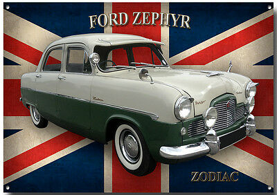 Ford Zephyr Zodiac Metal Sign.classic Ford Cars,vintage Ford Cars.