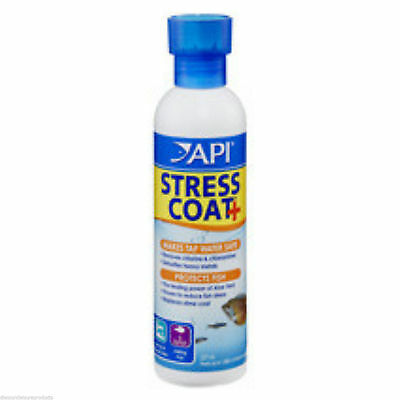 API Stress Coat Aquarium Fresh Water Conditioner Fish Tank Dechlorinator 118ml