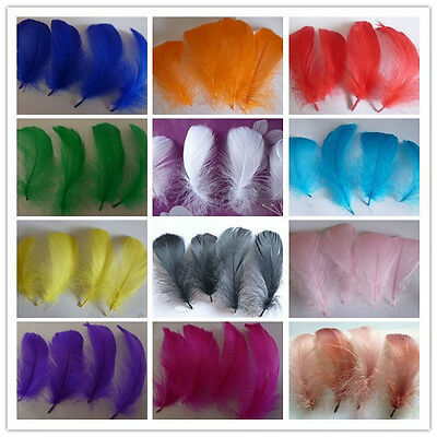 Wholesale 25/50/100pcs natural goose feather floating 5-10cm / 2-4inch