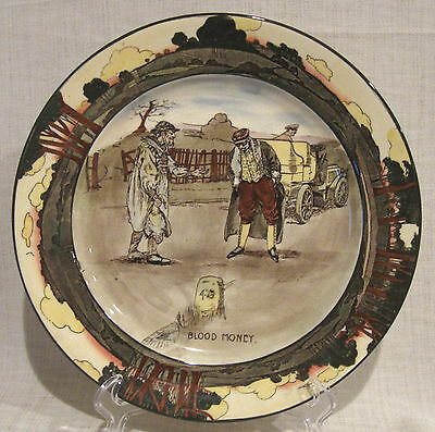 "Royal Doulton Automobile Series "" Blood Money ""  10 1/2"" Plate"