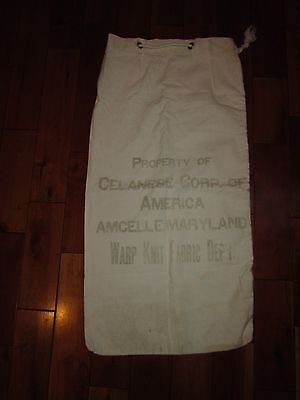 Antique Celanease Cumberland Amcelle Maryland  Warp Knit Fabric Department Bag