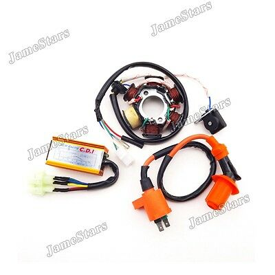 Ignition Coil Magneto Stator AC CDI Box For ATV Go Kart  GY6 50cc Moped Scooter