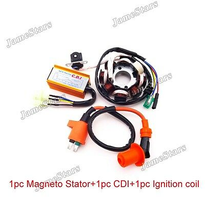 Scooter Magneto Stator Racing Ignition Coil AC CDI For GY6 125 150 cc ATV Moped