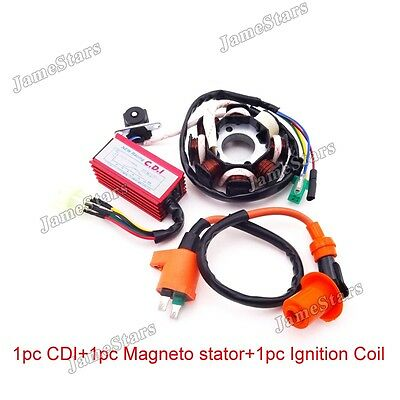 Magneto Stator Ignition Coil AC CDI GY6 125cc 150cc ATV Go Kart Moped Scooter