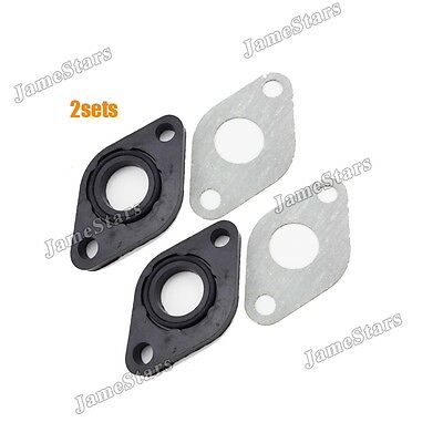 2x Engine Carburetor Carb 17mm Intake Gasket Kit For GY6 50cc Moped Scooter