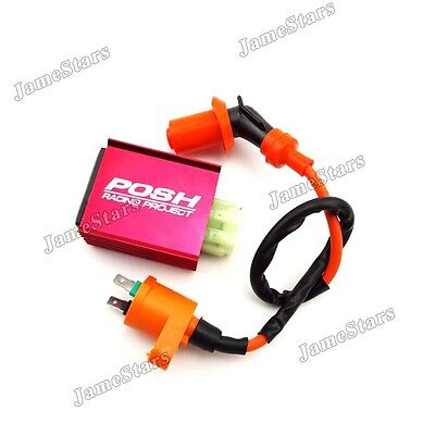 Scooter Racing Ignition Coil CDI For Chinese GY6 50cc 125cc 150cc Moped