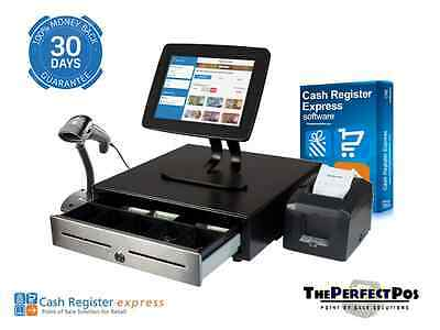 Retail Point of Sale pcAmerica CRE Cash Register Express POS w/ Customer Display