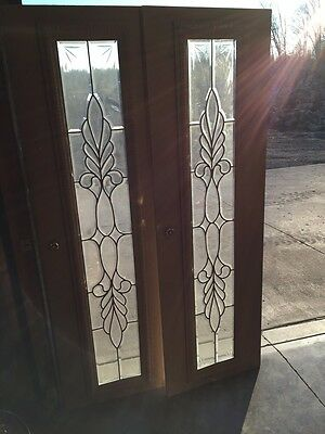 Bg 199 One Pair Antique Beveled Glass Sidelights Or Transom Windows