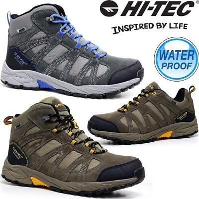 Mens Hi Tec Alto Leather Walking Hiking Waterproof Trainers Boots Shoes Size