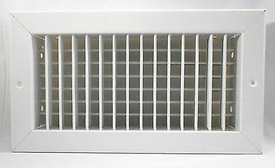 "Titus 300RS 13.75"" x 7.75"" Supply Grille HVAC Adj Air Register White Steel"