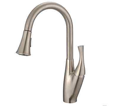 Single Lever Pull Down Kitchen Faucet in Stainless Steel