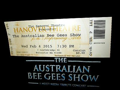 Australian Bee Gees Tribute band  concert  autograph tee ticket Adult Med New