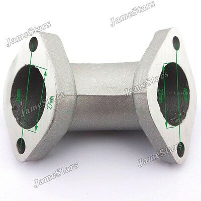 Intake Manifold Pipe 27mm  angled 0° for 125cc - 160cc Pit Dirt Bikes