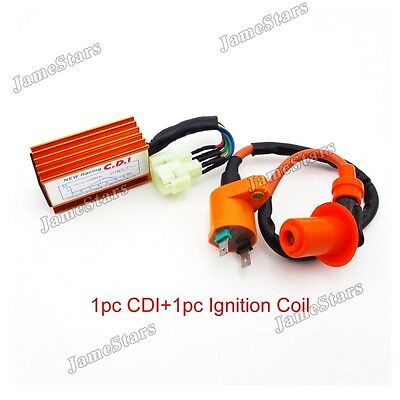 Racing Ignition Coil AC CDI Fit GY6 50 125 150cc ATV Quad Go Kart Moped Scooter