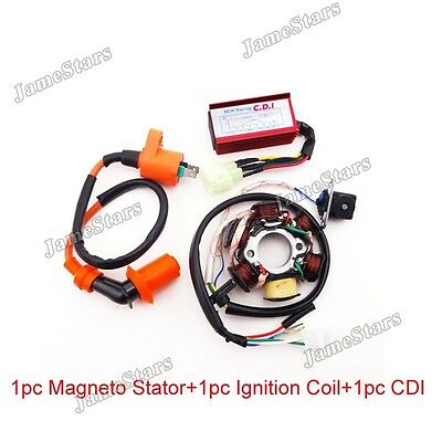 Stator Magneto Racing Ignition Coil AC CDI Box For GY6 50cc Moped Scooter ATV