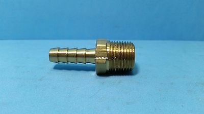 Brass 5/16 ID Hose Barb 3/8 NPT Fitting Coupler Air Fluid Fuel Gas Liquid Water