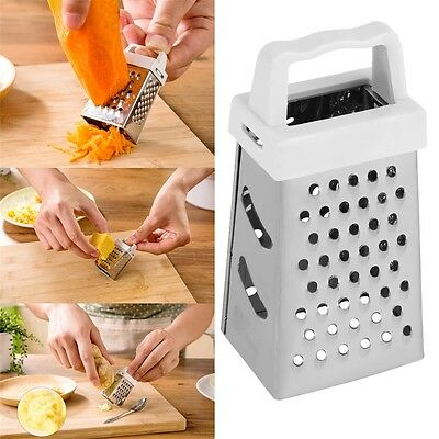 Useful Mini 4 Sides Design Stainless Handheld Grater Slicer Kitchen Tool RE