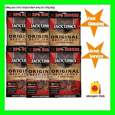 6x Jack Link's Original Beef Jerky 255g Made in New Zealand (Total=1.53kg)