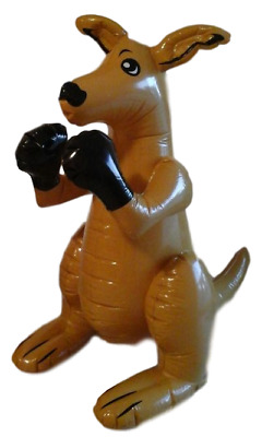 Large Brown Inflatable Boxing Kangaroo