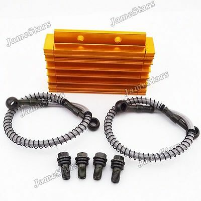 Gold Oil Cooler For Chinese Pit Dirt Bike Trail Motorcycle 125cc 140cc 150cc
