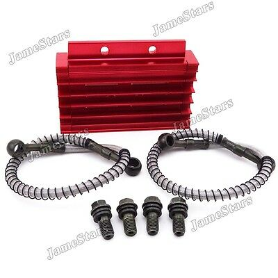 Red Oil Cooler For 125cc 140cc 150cc Chinese Pit Dirt Bike Trail Motocross